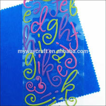 factory price letter puffy sticker for children made in China