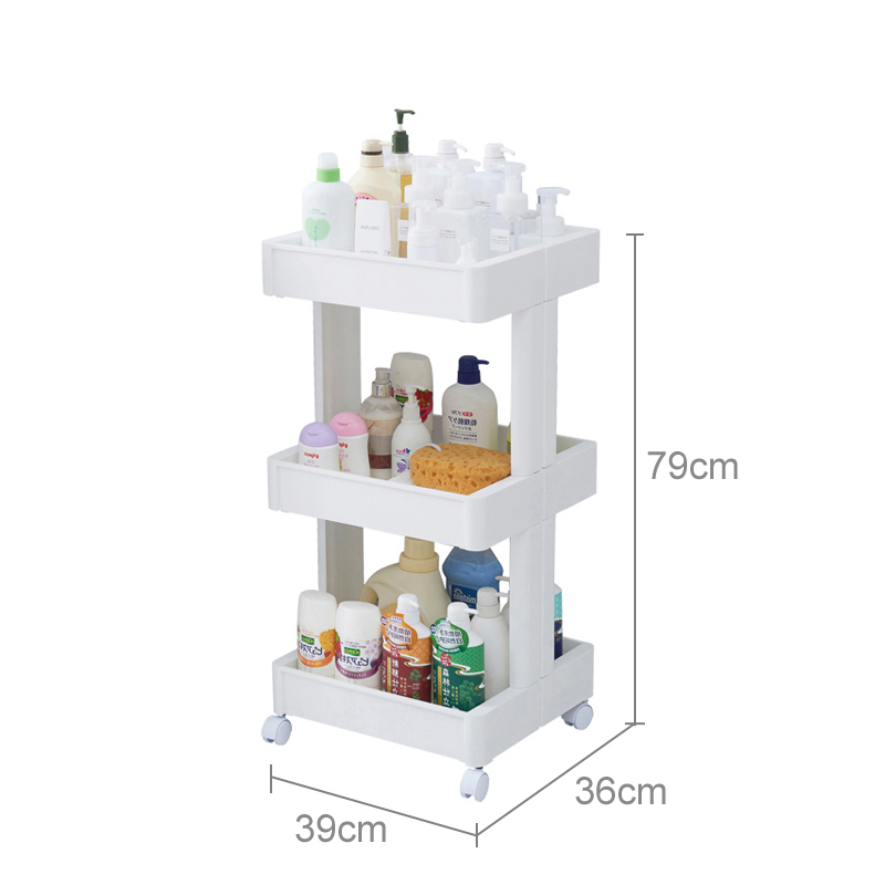 Plastic storage shelf