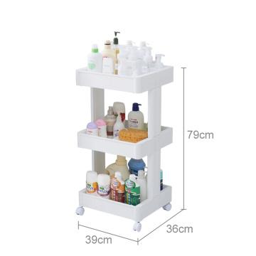 Étagère de rangement en plastique Étagère de salle de bain