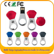Diamante promocional anel colorido forma USB Flash Drive (ED508)