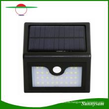 Energía solar a prueba de agua PIR LED Wall Street Garden Light 28PCS Lámparas Motion Sensor Security Lamp Dim-Mode batería 2200mAh
