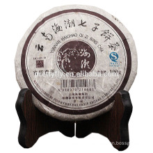 100g laxative and detox Anti ageing tea cake Ancient tree PU'ER Yunnan qizi bing cha