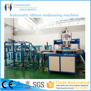 Ribbon Trademark Logo Belt Embossing Machine