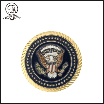 Custom military metal engraving challenge coins