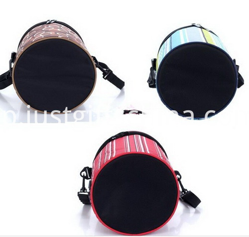 Promotional Custom Barrel Sport Cooler Bags - Stripe Colors (2)