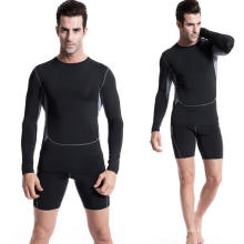 Tight High Elastic Langarm-Fitness & Sport Männer T-Shirts