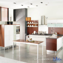 Black Bench Top White Color Kitchen Cabinets