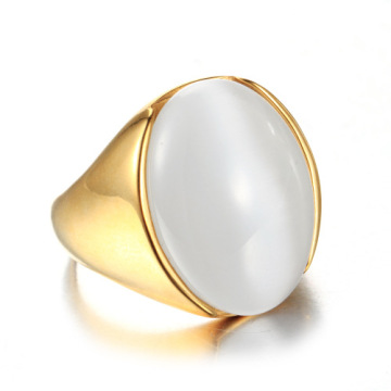 Cool men simple design big gem rings