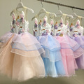 China wholesale Flower Girls' Dresses pink princess kids ruffle tutu birthday party dress for 2 years old China wholesale Flower Girls' Dresses pink princess kids ruffle tutu birthday party dress for 2 years old