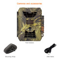 Outdoor waterproof wildlife trail night vision time lapse solar power hunting camera