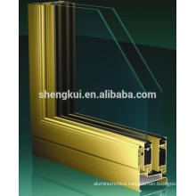 K80 Sliding Windows Andize Gold Aluminum Profiles Aluminum Extrusions