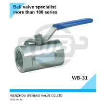 Válvula esférica de puerto reducido AISI304 Dn15 Pn16