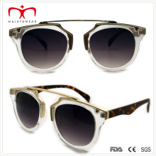 2015 últimas gafas de sol de plástico de las señoras del estilo con la decoración del metal (WSP508308)
