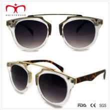 2015 новых стильных пластиковых дам солнцезащитные очки с металлическим украшением (WSP508308)