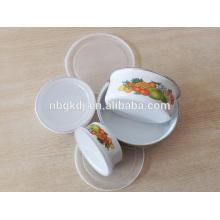 enamel coating Chinese style ice bowl sets & enamelware eating bowl