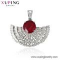33479 xuping rhodium plated luxury phoenix wings shaped zircon pendant