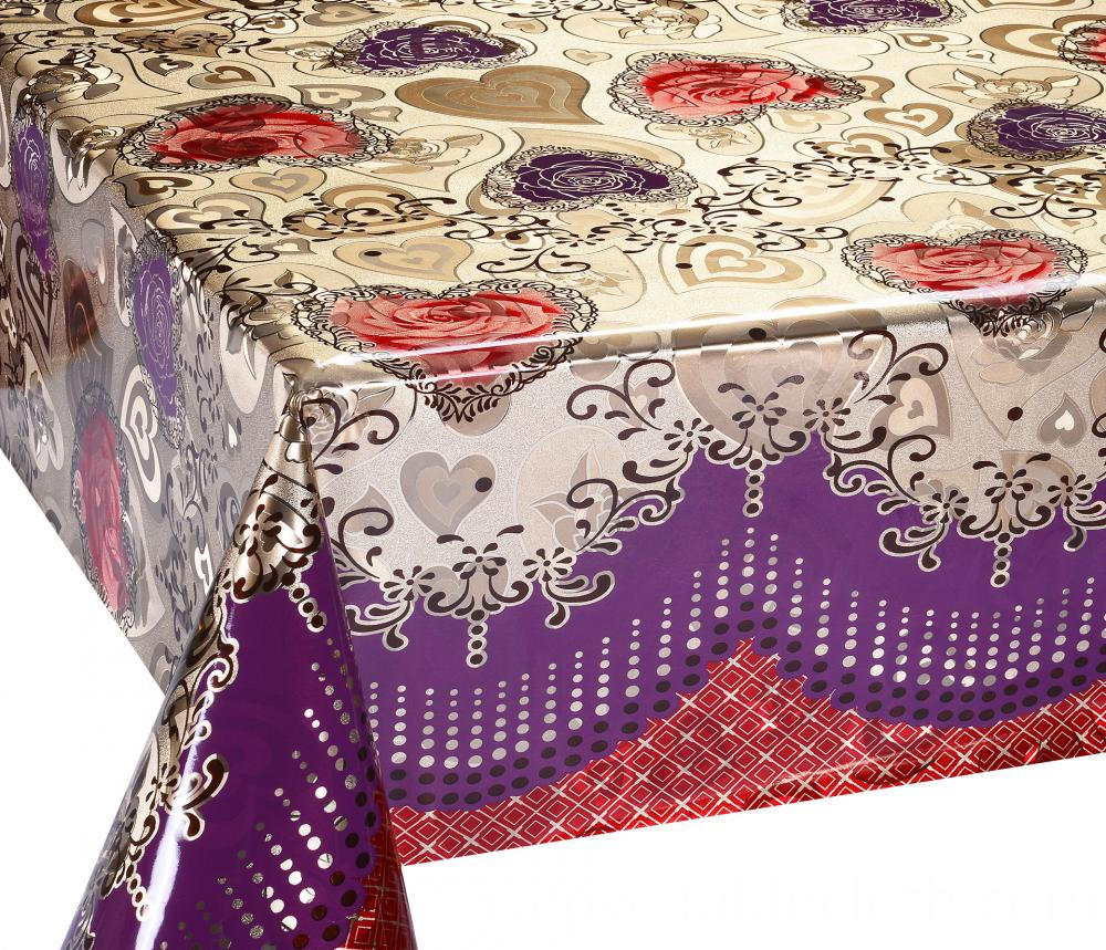 Mettalic gold silver tablecloth 2
