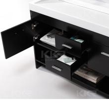 "36"" Double Corner Countertop Stone Acrylic Luxury Set Modern Single Bath Furniture"