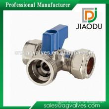 JD-5222 mini válvula de esfera / válvula de esfera de bronze de 3 maneiras