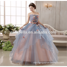 Wholesale Puffy Princess Ball Gown Grey Wedding Dress
