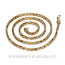 Chaîne de collier en or 18 carats / or rose / argent personnalisé / Chaîne de collier en or en acier inoxydable 316 en gros pas cher