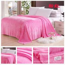 Comfortable Flannel Blanket in Solids Pink