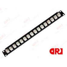 16 Port 1u White & Black Optical Fiber Fittings Ftth Optical Fiber Patch Panel For Odf
