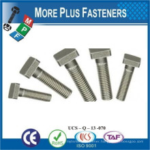 Made in Taiwan DIN 188 Stainless Steel T Head Double Nip Tee Bolts