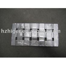 Alumínio fundição retângulo cadeira peças de mobiliário de volta
