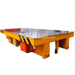 Electric warehouse rail transfer flat car