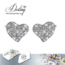 Destiny Jewellery Crystals From Swarovski Flashing Heart Earrings