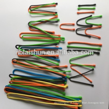Flexível 4mm & 5mm & 6.6mm Diâmetro Food Silicone Engrenagem Tie Twist Gear Tie Fornecedor