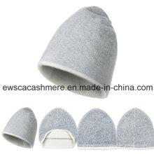 Lady′s Double-Color Top Grade Pure Cashmere Hat A16wa2-001