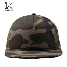 Custom stylish 5 panel snapback mesh camo wholesale blank trucker hats