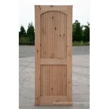 Portas de madeira exteriores da madeira de pinho Knotty da grelha
