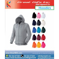 Kundenspezifische Kapuzenpullis und Sweatshirts / Hoodies aus 100% Baumwolle mit Reißverschluss für den Sport