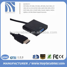 Gold 1080P HDMI to VGA Cable With Chipset for PC Laptop