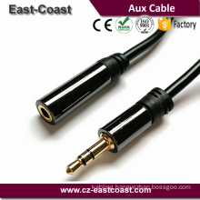 Original factory 18K High grade OFC 3.5mm stereo male to male aux cable