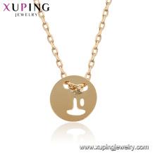44937 Xuping 18k banhado a ouro estilo simples moda feminina colar