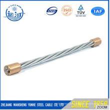 Hilo de alambre de acero galvanizado para cable óptico / cable de comunicación