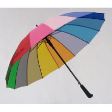 Auto Open Rainbow Printing 16k Straight Umbrella (BD-03)