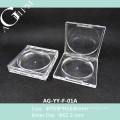 Empty Transparent Rectangular Compact Powder Case AG-YY-F-01A, AGPM Cosmetic Packaging, Custom colors/Logo