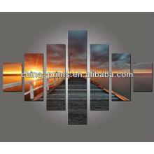 Lakeside Sunset fotos Grupo Impressão em Canvas