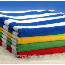 Toalla de playa de impresión reactiva con terciopelo de algodón 100% (pt-012)