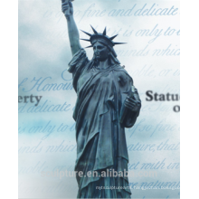 The city woman monument of the Liberty Statue famous bronze sculpture artists