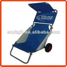 Складной стул пляжа колесо с навесом