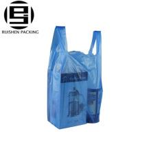 Recycler les sacs en plastique d'emballage de t-shirt pour l'épicerie