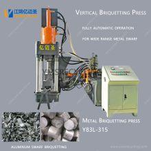 Máquina automática de briquetagem de sucata de alumínio