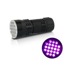 Mini 21PCS LED AAA bateria portátil UV lanterna
