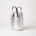 Transparent cotton and linen dual-use bucket bag handbag